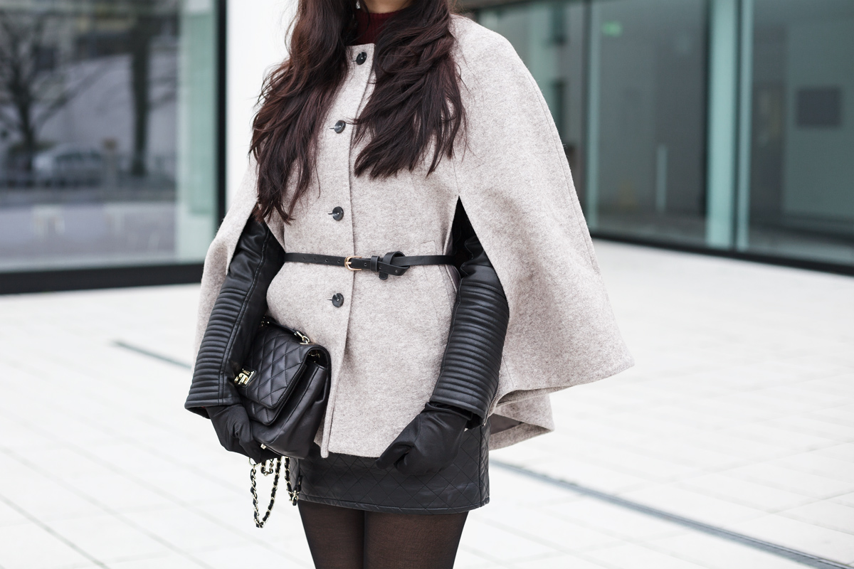 Bild - Cape, Outfit, DKNY, Handtasche, Wie style ich Capes, Rock, Street One, Outfit, ootd, Style, Fashionblog