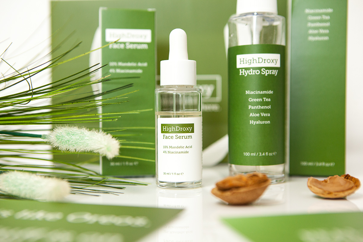 Bild Highdroxy Hydro Spray und Face Serum, AHA Säure, Niacinamide, Beautyblog, Hannover, www.shades-of-ivory.de