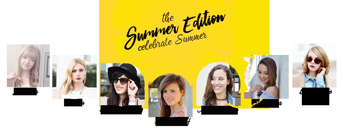 Bild Banner The Summer Edition, Bloggergruppe, Fashionblhgger, Bloggerchallenge, Bloggermädels, Modeblogger, Stylemocca, bezauberndenana, kiamisu, missgetaway, justmyself, shadesofivory, lara-ira