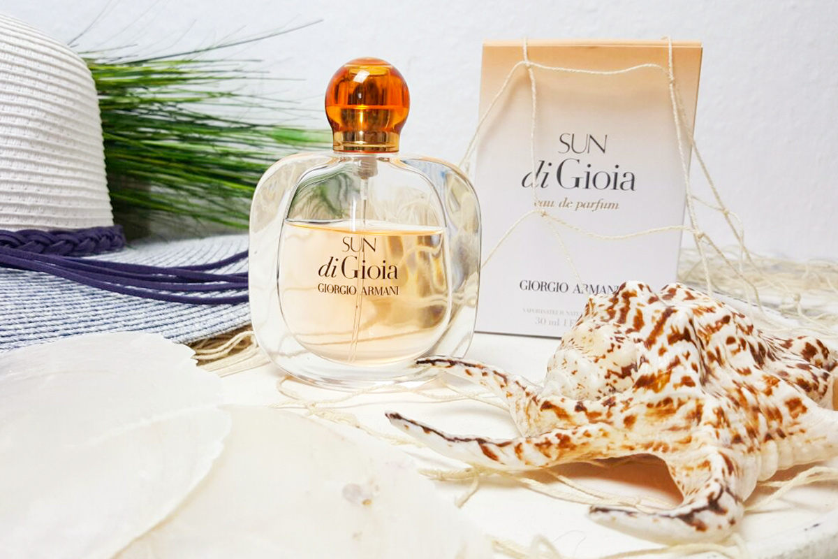 Bild Georgio Armani Sun di Gioia Parfum, Duft, Fragrance, Review, Parfum, Sommerduft, Shades of Ivory, Blog