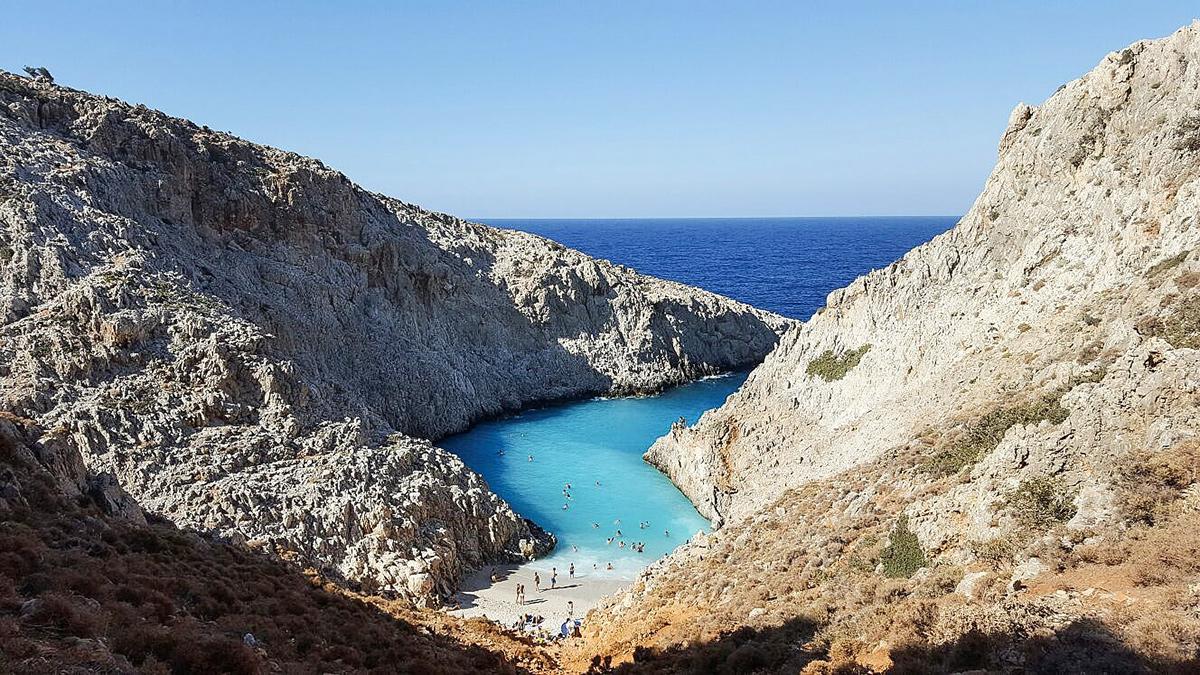 Bild: Kreta, Griechenland, Seitan Limani, Beach, Stefanou Beach, Bucht, Strände, Karibikfeeling, crete, Shades of ivory, Urlaub, Geheimtipp,