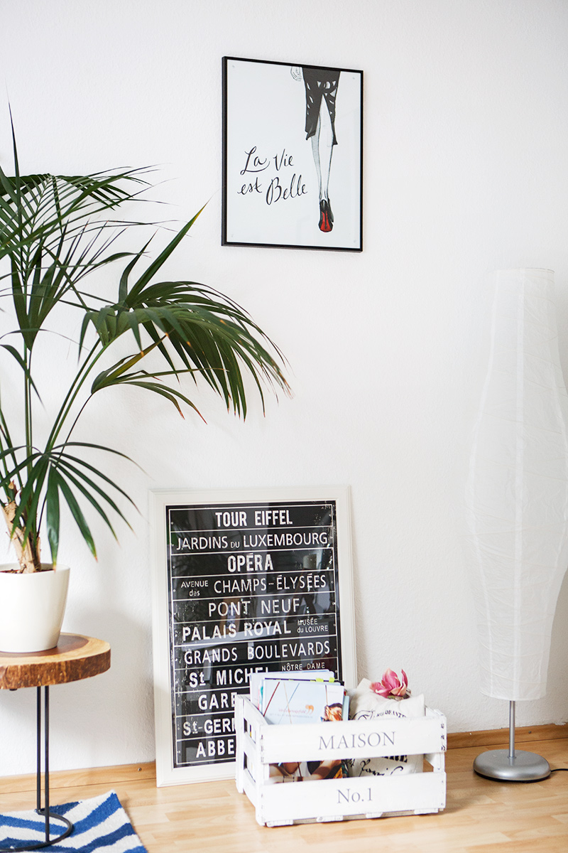 Bild: Interior, Home, Wohnzimmer, Blogger, Einrichtung, Inneneinrichtung, La die est belle, Wandbild