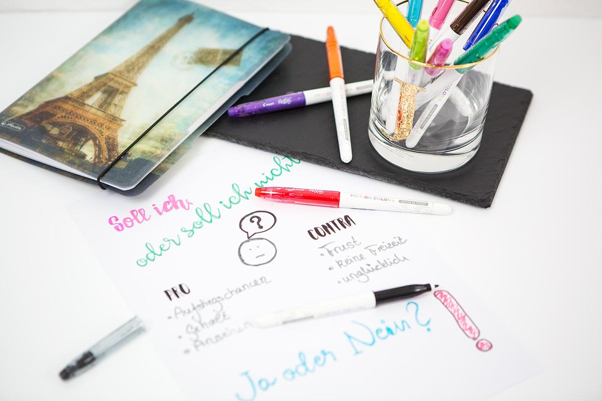 Bild Pilot Pen Frixions Colors, Entscheidungen, Kolumne, Blogger, Shades of Ivory