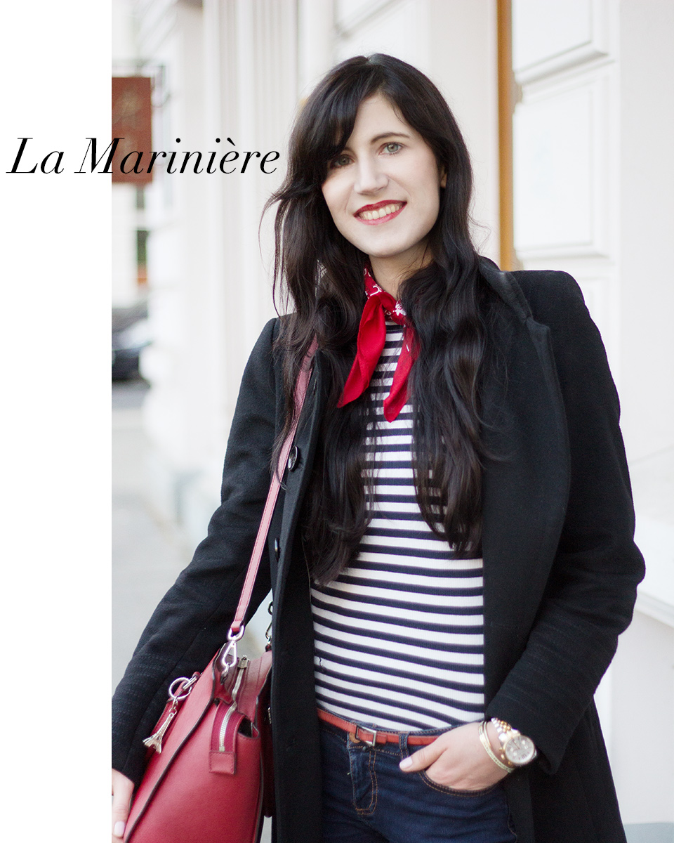 Outfit: Mode, Streifen, Mariniere, Blue Jeans, Parisienne, Paris, French, Susanna Lookalike, Michael Kors, Ootd, Style, Blogger