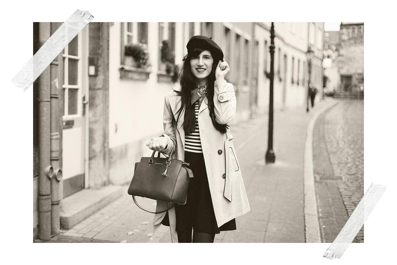 Bild: French Chic, Parisienne, Trenchcoat, Fashion, Blogger, früher vs. heute