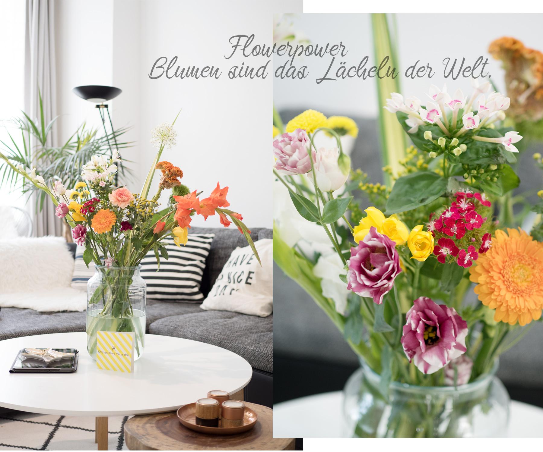 Bild: Blumenstrauß, Bloomon, Home, Interieur, Interior, Wohnen, Blumen, Bouquets, Blogger, Shades of Ivory, Living