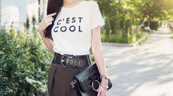 Outfit: Color and Statement Shirts im Fashion Karussell