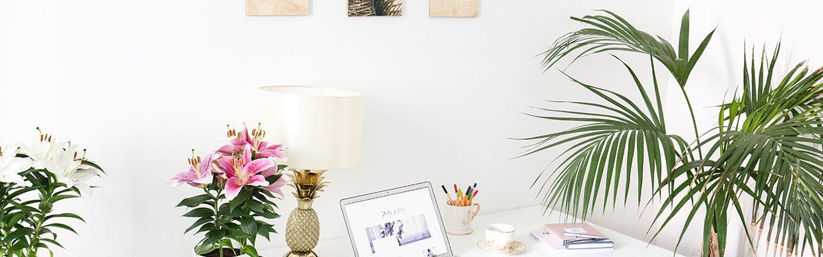 Interior: Home Office einrichten und Holzbilder von Hello Sunday