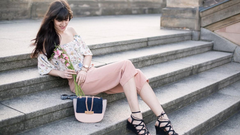 outfit rosa culotte zara off shoulder bluse berlin. Black Bedroom Furniture Sets. Home Design Ideas