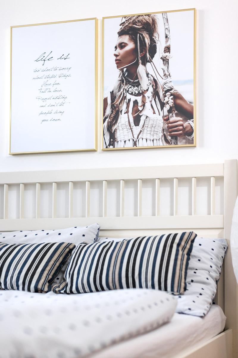 Bild: Schlafzimmer einrichten, Interior, Schlafzimmer, Einrichtung, Interieur, Wohnen, Living, Desenio, Wandbilder, Blog, Berlin, Fashionblogger, Shades of Ivory, Motivationsbilder