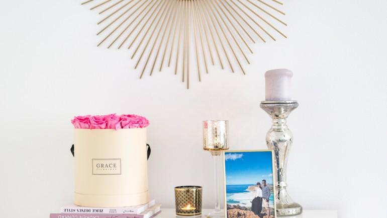 Interieur: Livingroom Update // Mit Infinity Rosen von Grace Flowerbox
