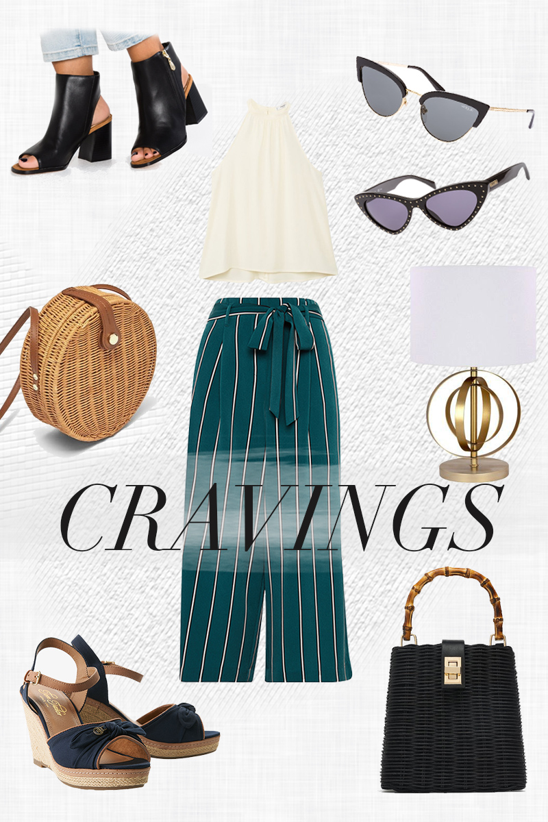 Bild: Curent Cravings, Onlineshoppen, Fashion, Fashionblogger, Modeblogger, Shades of Ivory, Blogger Berlin, Culotte, Sonnenbrille, Korbtasche, Zara, Westwing, Lampe weißer Schirm